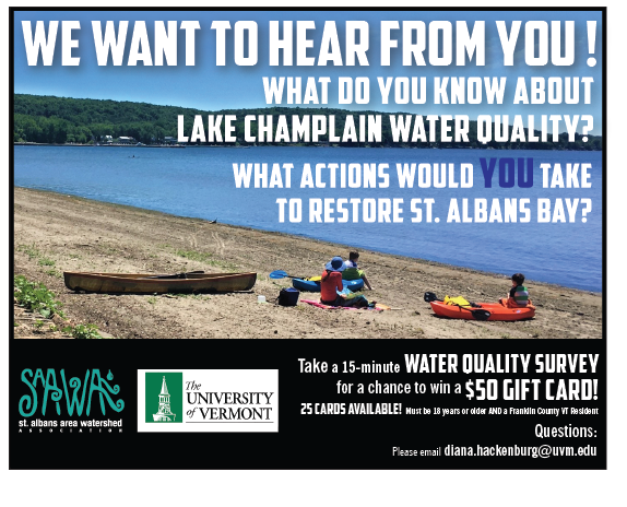 Take a 15-minute water quality survey for a chance to win a $50 gift card!